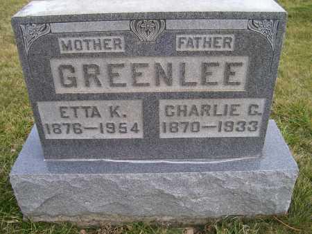 GREENLEE, ETTA K. - Adams County, Ohio | ETTA K. GREENLEE - Ohio Gravestone Photos