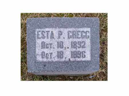 GREGG, ESTA P. - Adams County, Ohio | ESTA P. GREGG - Ohio Gravestone Photos