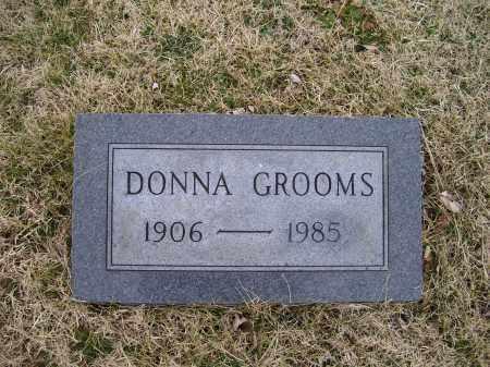 GROOMS, DONNA - Adams County, Ohio | DONNA GROOMS - Ohio Gravestone Photos