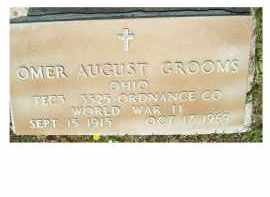 GROOMS, OMER AUGUST - Adams County, Ohio | OMER AUGUST GROOMS - Ohio Gravestone Photos