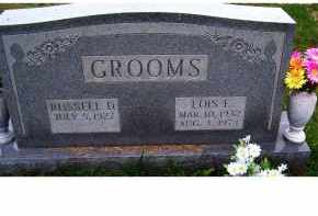 GROOMS, RUSSELL D. - Adams County, Ohio | RUSSELL D. GROOMS - Ohio Gravestone Photos