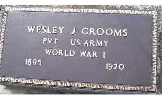 GROOMS, WESLEY J. - Adams County, Ohio | WESLEY J. GROOMS - Ohio Gravestone Photos