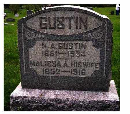 GUSTIN, N. A. - Adams County, Ohio | N. A. GUSTIN - Ohio Gravestone Photos