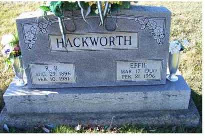 HACKWORTH, EFFIE - Adams County, Ohio | EFFIE HACKWORTH - Ohio Gravestone Photos