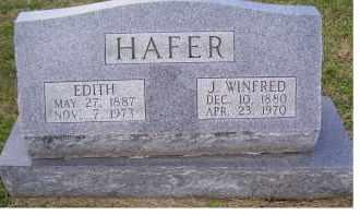 HAFER, EDITH - Adams County, Ohio   EDITH HAFER - Ohio Gravestone Photos