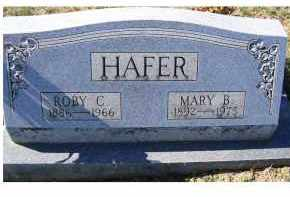 HAFER, ROBY C. - Adams County, Ohio | ROBY C. HAFER - Ohio Gravestone Photos