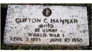 HANNAH, CLIFTON C. - Adams County, Ohio   CLIFTON C. HANNAH - Ohio Gravestone Photos