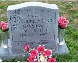 YOUNG HANSHAW, JUNE - Adams County, Ohio | JUNE YOUNG HANSHAW - Ohio Gravestone Photos