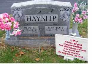 HAYSLIP, BERLIN E. - Adams County, Ohio | BERLIN E. HAYSLIP - Ohio Gravestone Photos