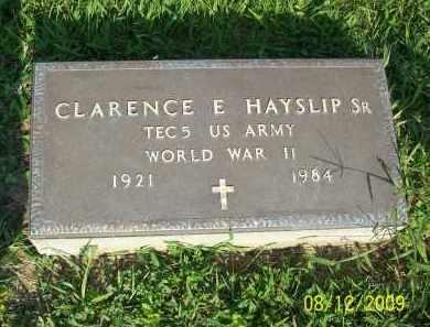 HAYSLIP, CLARENCE E SR - Adams County, Ohio | CLARENCE E SR HAYSLIP - Ohio Gravestone Photos