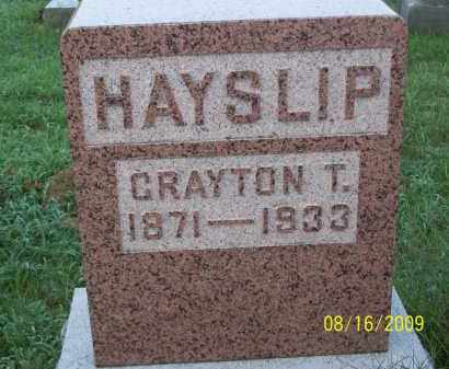 HAYSLIP, CRAYTON T - Adams County, Ohio | CRAYTON T HAYSLIP - Ohio Gravestone Photos