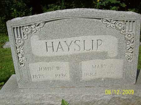 HAYSLIP, MARY A - Adams County, Ohio | MARY A HAYSLIP - Ohio Gravestone Photos