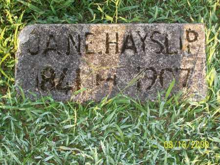 HAYSLIP, JANE - Adams County, Ohio | JANE HAYSLIP - Ohio Gravestone Photos