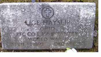HAYSLIP, LIGE - Adams County, Ohio | LIGE HAYSLIP - Ohio Gravestone Photos