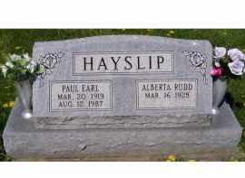 HAYSLIP, ALBERTA - Adams County, Ohio | ALBERTA HAYSLIP - Ohio Gravestone Photos