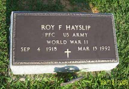 HAYSLIP, ROY F - Adams County, Ohio   ROY F HAYSLIP - Ohio Gravestone Photos