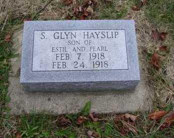 HAYSLIP, S. GLYN - Adams County, Ohio   S. GLYN HAYSLIP - Ohio Gravestone Photos