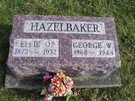 HAZELBAKER, GEORGE W. - Adams County, Ohio | GEORGE W. HAZELBAKER - Ohio Gravestone Photos