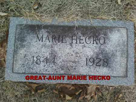HECKO, MARIE - Adams County, Ohio | MARIE HECKO - Ohio Gravestone Photos
