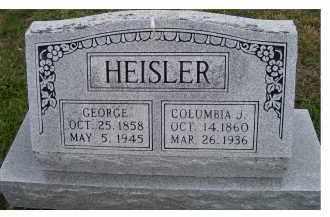 HEISLER, COLUMBIA J. - Adams County, Ohio   COLUMBIA J. HEISLER - Ohio Gravestone Photos