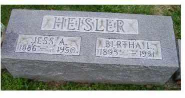 HEISLER, JESS A. - Adams County, Ohio | JESS A. HEISLER - Ohio Gravestone Photos
