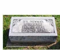 NEWMAN HERBSTREIT, IVY - Adams County, Ohio | IVY NEWMAN HERBSTREIT - Ohio Gravestone Photos