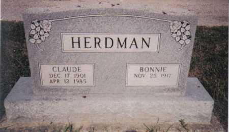 HERDMAN, CLAUDE - Adams County, Ohio   CLAUDE HERDMAN - Ohio Gravestone Photos