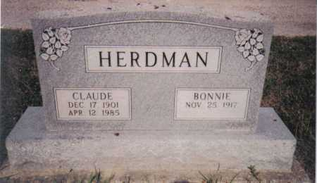 HERDMAN, BONNIE - Adams County, Ohio | BONNIE HERDMAN - Ohio Gravestone Photos