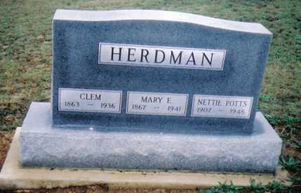 HERDMAN, CLEM - Adams County, Ohio | CLEM HERDMAN - Ohio Gravestone Photos