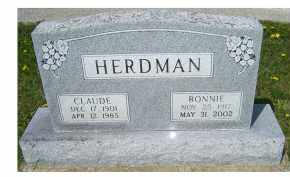 HERDMAN, CLAUDE - Adams County, Ohio | CLAUDE HERDMAN - Ohio Gravestone Photos
