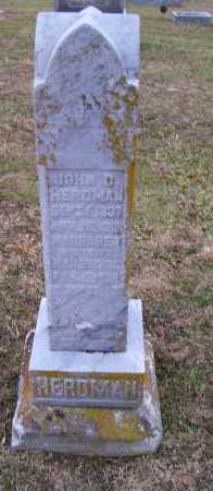 HERDMAN, JOHN D. - Adams County, Ohio | JOHN D. HERDMAN - Ohio Gravestone Photos