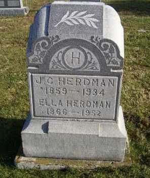 HERDMAN, J. C. - Adams County, Ohio | J. C. HERDMAN - Ohio Gravestone Photos