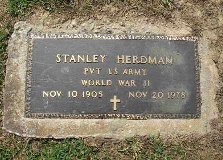HERDMAN, STANLEY - Adams County, Ohio | STANLEY HERDMAN - Ohio Gravestone Photos