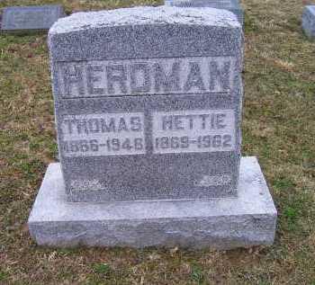 KENDALL HERDMAN, HETTIE - Adams County, Ohio | HETTIE KENDALL HERDMAN - Ohio Gravestone Photos