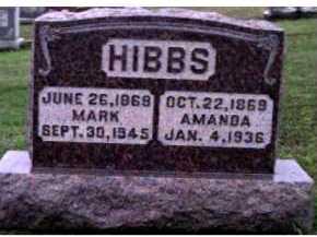 HIBBS, AMANDA - Adams County, Ohio | AMANDA HIBBS - Ohio Gravestone Photos