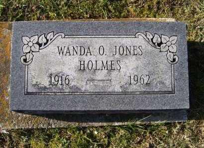 JONES HOLMES, WANDA O. - Adams County, Ohio   WANDA O. JONES HOLMES - Ohio Gravestone Photos