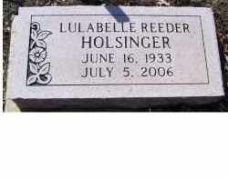 HOLSINGER, LULABELLE - Adams County, Ohio   LULABELLE HOLSINGER - Ohio Gravestone Photos