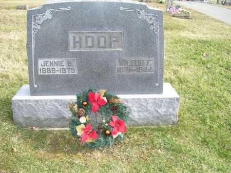HOOP, JENNIE B. - Adams County, Ohio | JENNIE B. HOOP - Ohio Gravestone Photos