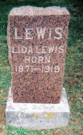 LEWIS HORN, LIDA - Adams County, Ohio | LIDA LEWIS HORN - Ohio Gravestone Photos
