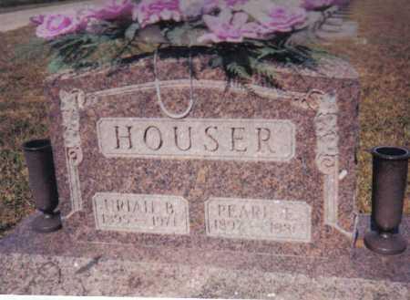 HOUSER, PEARL E. - Adams County, Ohio | PEARL E. HOUSER - Ohio Gravestone Photos