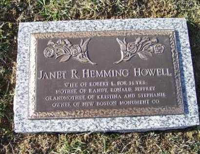 HOWELL, JANET R. - Adams County, Ohio | JANET R. HOWELL - Ohio Gravestone Photos