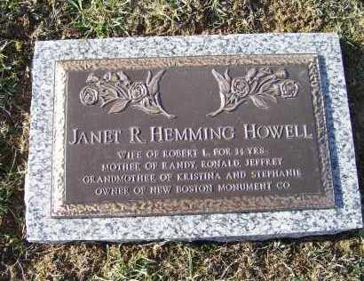 HEMMING HOWELL, JANET R. - Adams County, Ohio | JANET R. HEMMING HOWELL - Ohio Gravestone Photos