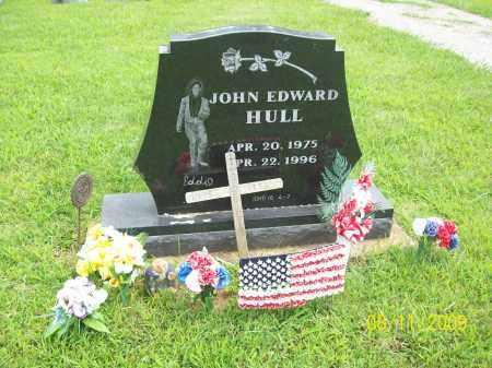 HULL, JOHN EDWARD - Adams County, Ohio   JOHN EDWARD HULL - Ohio Gravestone Photos