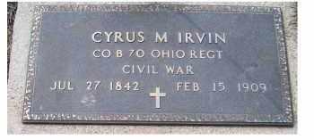 IRVIN, CYRUS - Adams County, Ohio | CYRUS IRVIN - Ohio Gravestone Photos