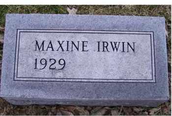 IRWIN, MAXINE - Adams County, Ohio | MAXINE IRWIN - Ohio Gravestone Photos