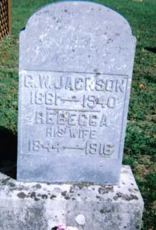 JACKSON, G.W. - Adams County, Ohio | G.W. JACKSON - Ohio Gravestone Photos