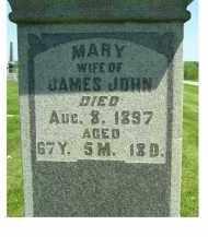 JOHN, MARY - Adams County, Ohio   MARY JOHN - Ohio Gravestone Photos