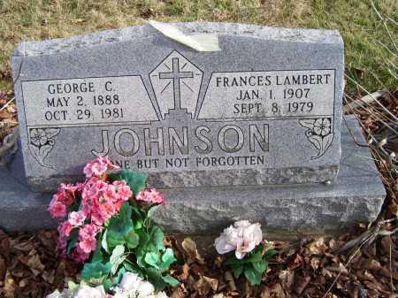 LAMBERT JOHNSON, FRANCES - Adams County, Ohio | FRANCES LAMBERT JOHNSON - Ohio Gravestone Photos