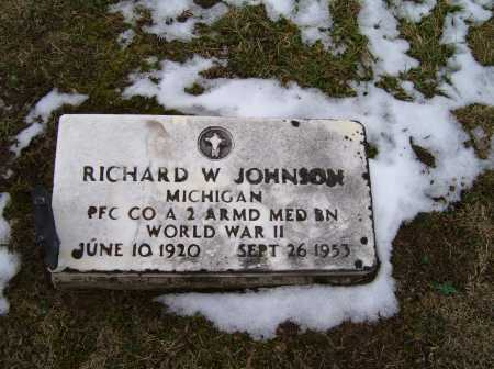 JOHNSON, RICHARD W. - Adams County, Ohio | RICHARD W. JOHNSON - Ohio Gravestone Photos