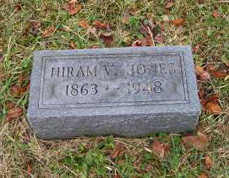 JONES, HIRAM V. - Adams County, Ohio | HIRAM V. JONES - Ohio Gravestone Photos